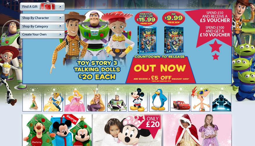Disney Homepage Design