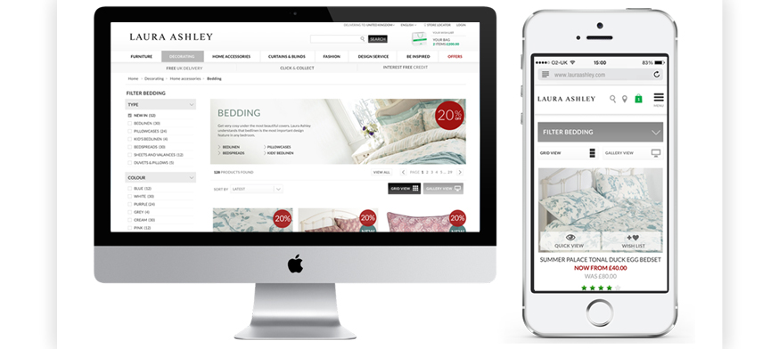 Freelance Laura Ashley Website Redesign