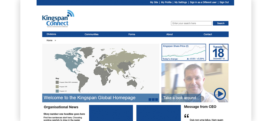 Kingspan Sharepoint Design