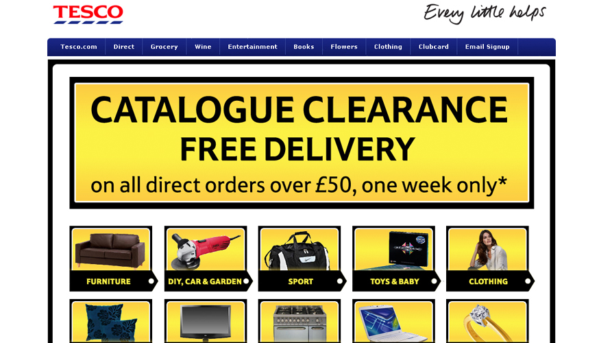 Tesco Clearance Landing Page Design
