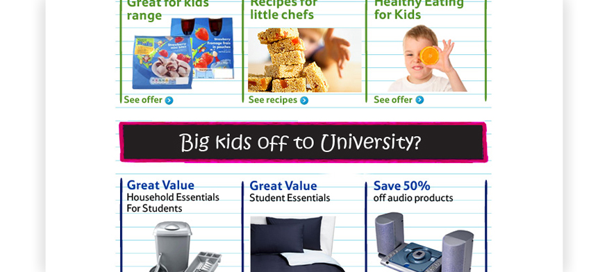 Tesco Back to School Newsletter Design